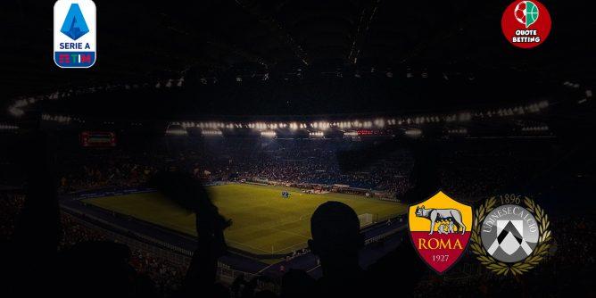 quote roma udinese dove vedere in tv formazioni pronostico quota serie a scommesse calcio italia stadio olimpico roma-udinese