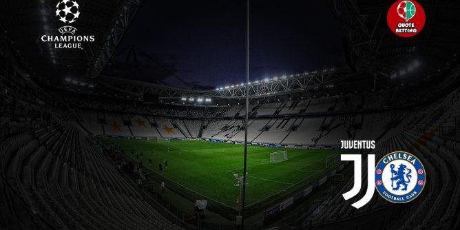 quote juve chelsea dove vedere in tv formazioni pronostico quota scommesse sport champions league UCL juventus-chelsea