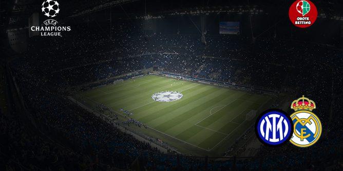 QUOTE inter real madrid dove vedere in tv formazioni pronostico quota scommesse sport europa champions league UCL