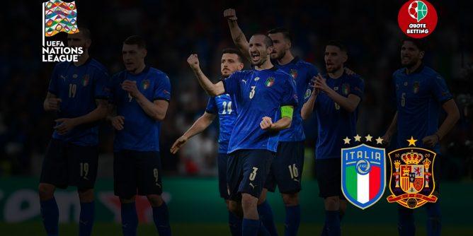 quote italia spagna dove vedere in tv formazioni pronostico quota nations league scommesse sportive prossima partita italia oggi calcio nazionale italiana